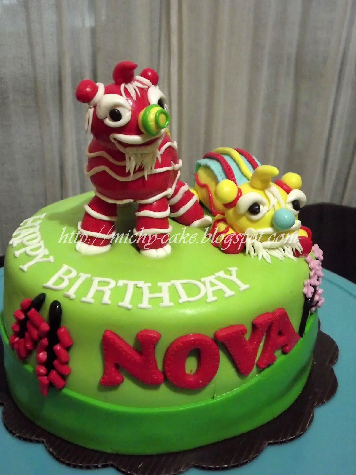 Michelle Creative Cakes Lion Dance Cake for Nova