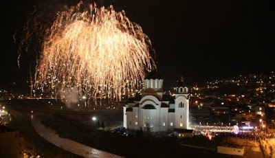 Christmas Eve in Valjevo, Serbia