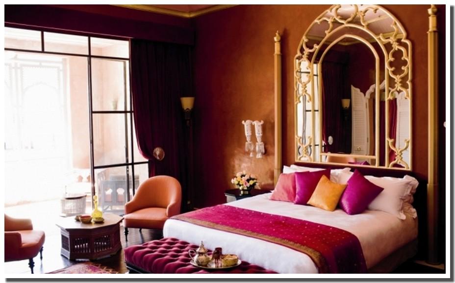 Nassima Home: Chambre décoration arabo-andalouse dans Palace Marocain