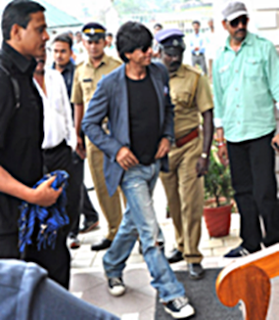 Shahrukh Khan arrives in Munnar, Kerala