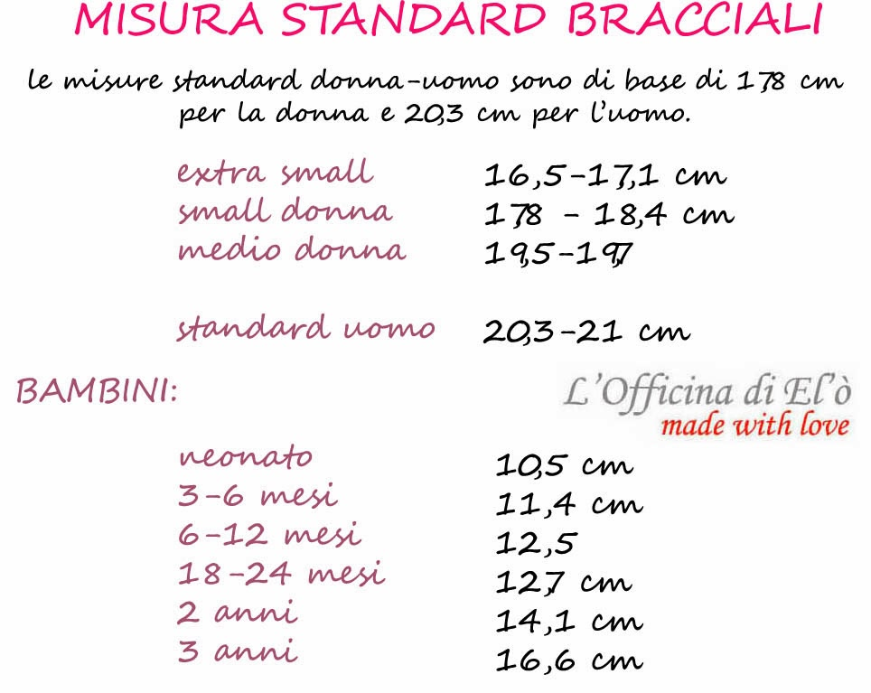 misura bracciali