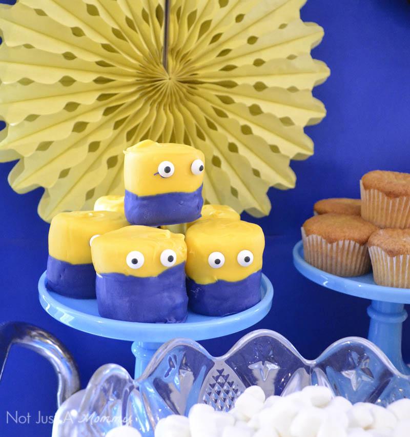 Minions Winter Yeti-land Movie Watching Party; jumbo marshmallow minions