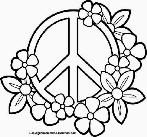 Peace coloring sheets free coloring sheet for Peace sign coloring page