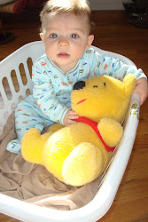Lil' Man with his Pooh Bear