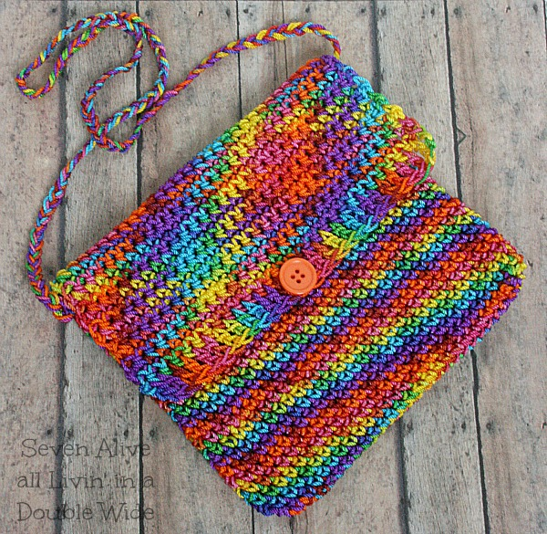 Free Crochet Patterns Using Nylon Thread : Girls Adventure Satchel Crochet Pattern - Seven Alive