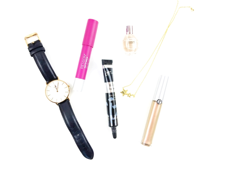 Daniel Wellington, DW Watches, Daniel Wellington watches, IT Cosmetics, IT Cosmetics Bye Bye Under Eye® Anti-Aging Concealer, Bye Bye Under Eye® Anti-Aging Concealer, Giorgio Armani, Giorgio Armani Beauty,Giorgio Armani Eye Tint, Mejuri, AmeliaxMejuri, Mejuri jewelry, Viktor and Rolf Flowerbomb, Flowerbomb, Viktor and Rolf, Revlon Colorstay Matte Balm, Revlon