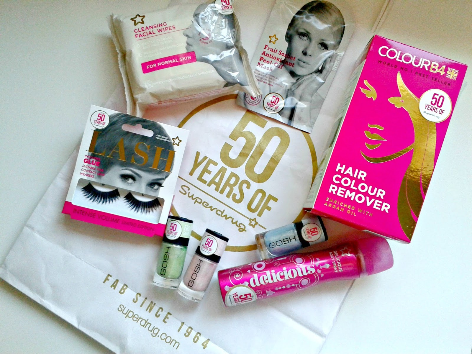 The Happy 50th Birthday Superdrug Haul 50 Years of Superdrug GOSH Nail lacquers Colour B4 Colour Remover