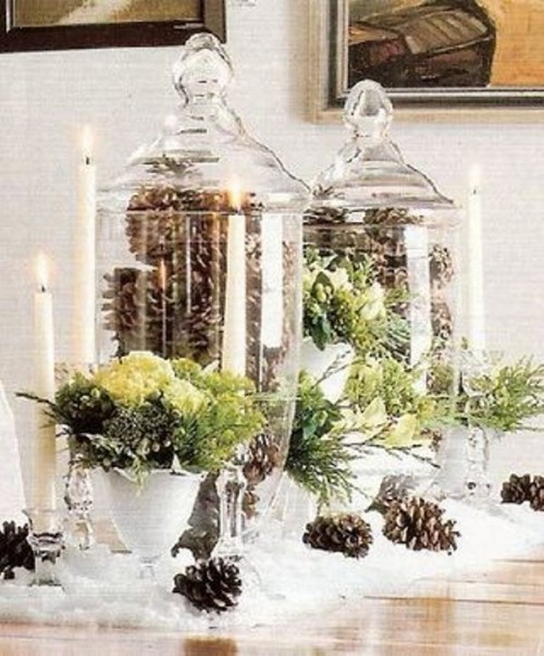 Bride In Dream Inspiring Winter Wedding Centerpiece