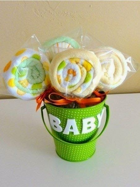 diy baby shower washcloth lollipops the idea king