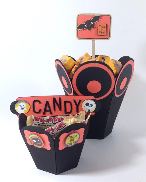halloween cardboard candy pots lisa fulmer