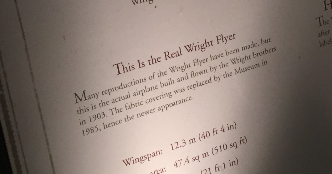 wright flyer sign