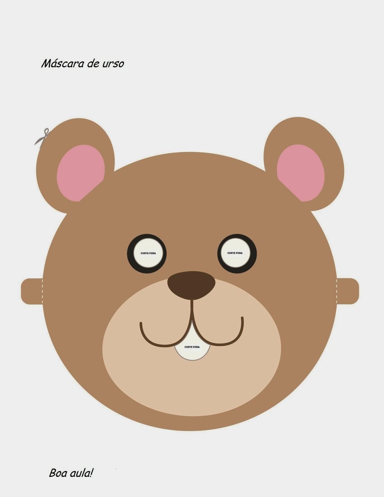 Molde de Máscaras - Urso
