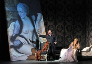 Carl Tanner (Herman) & Anne-Marie Owens (The Countess), Queen of Spades - Grange Park Opera 2012 (Photography: Alastair Muir)