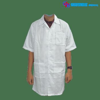 baju laboratorium pendek