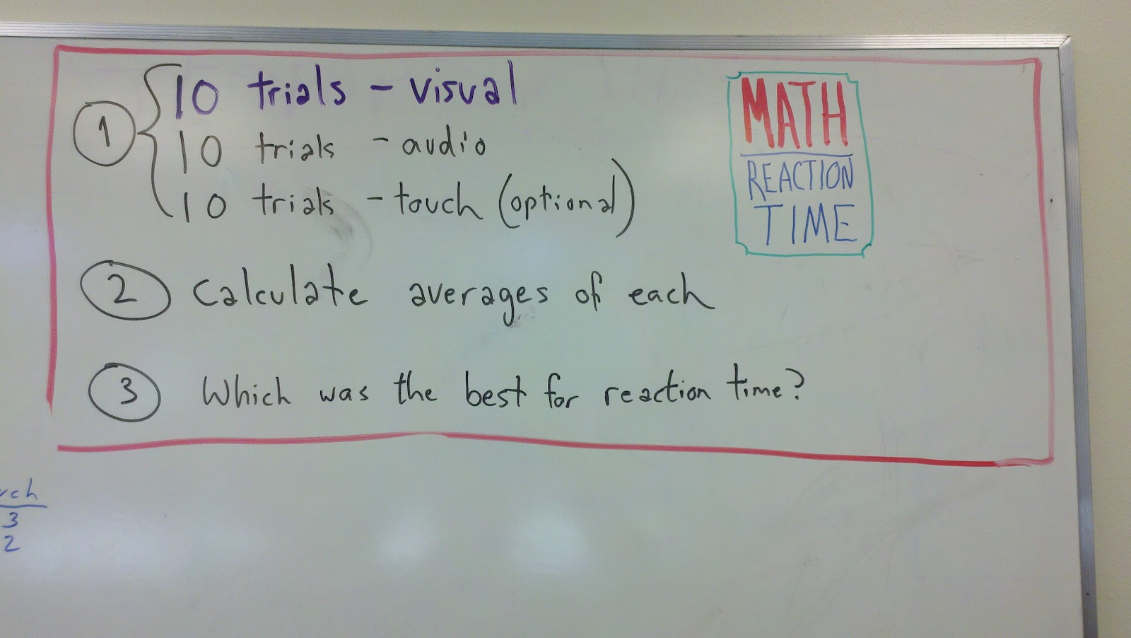 Jason\'s Summers-Knoll Class Blog: Math Recap: Reaction Time