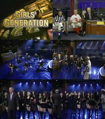 SNSD David Letterman Show