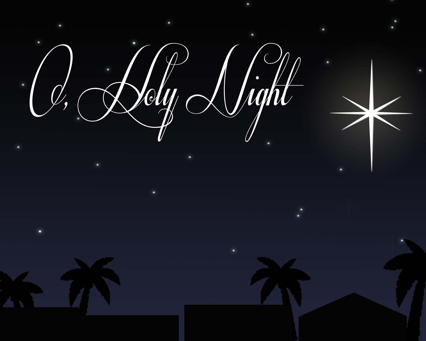 Nativity backdrop printable for O holy night decorations