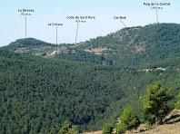 Vista dels voltants de L'Estany des del Camí Ramader