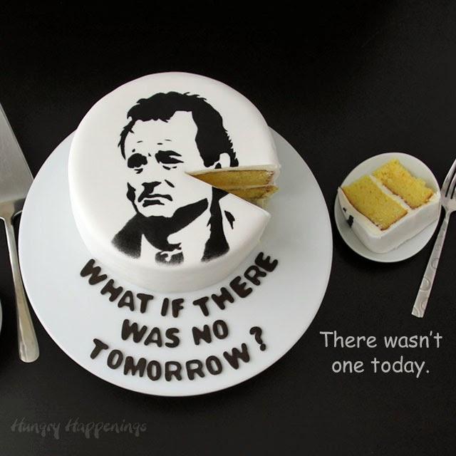 Bill Murray Groundhog Day Cake   HungryHappenings.com