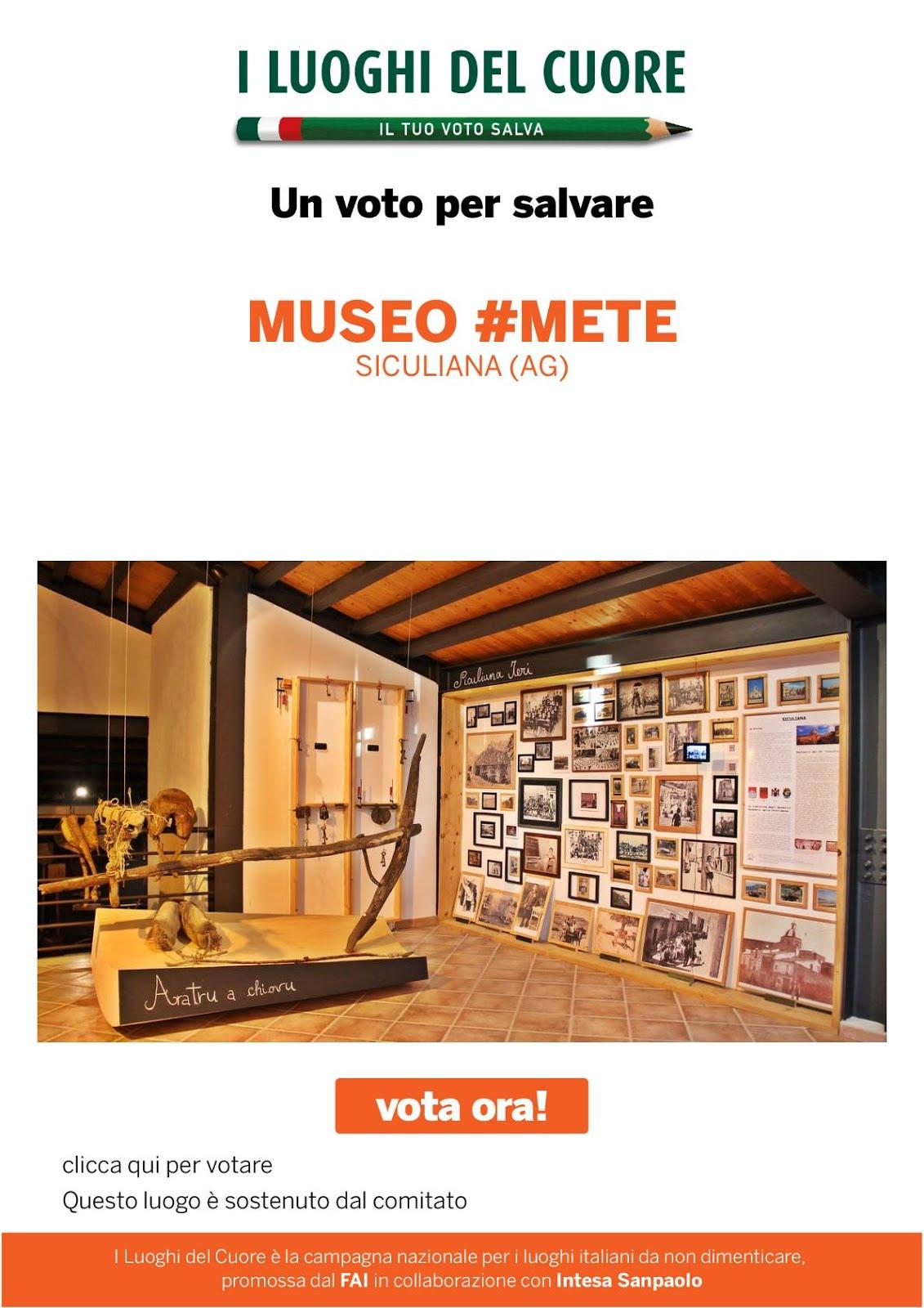 Sostieni il Museo #MeTe votandolo tra i Luoghi del cuore FAI