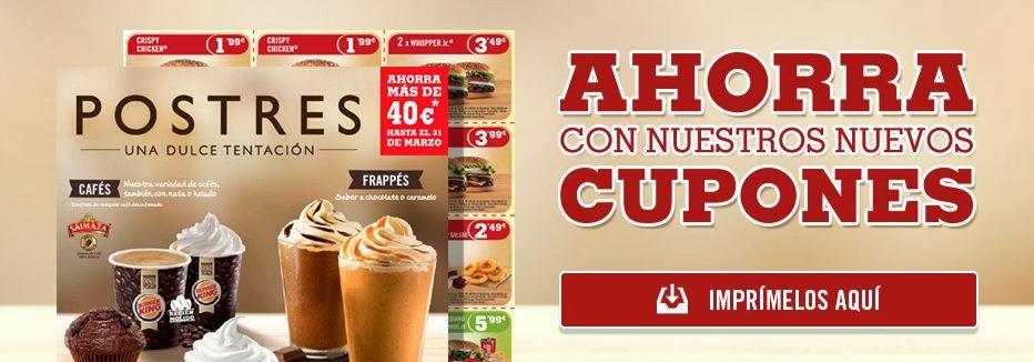 Cupones Descuento Burger King® Para Marzo 2014