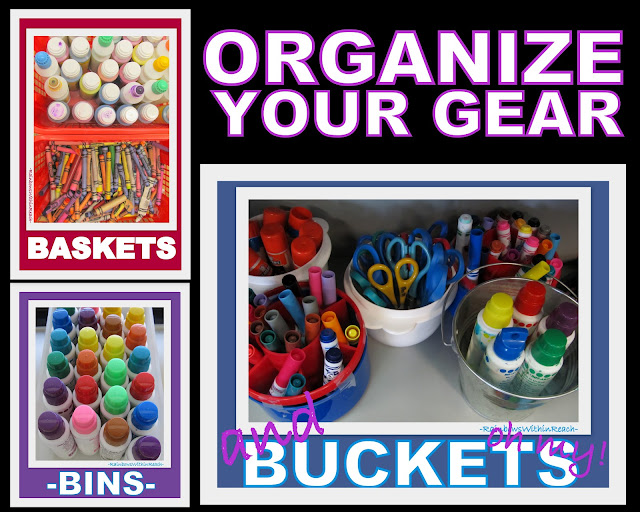 photo of: Systems for Classroom Organization of Art Supplies