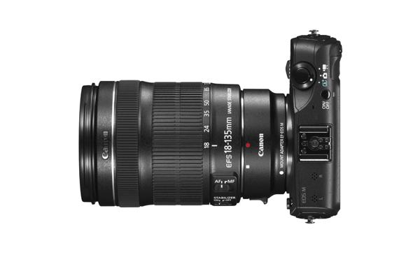 Fotografia della Canon EOS M con il 18-135mm IS STM