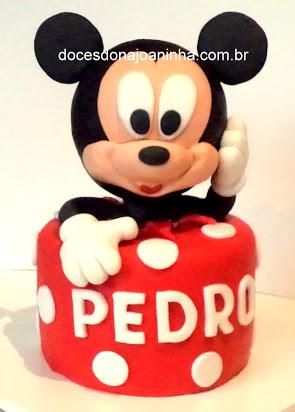 Bolo decorado do Mickey para festa infantil