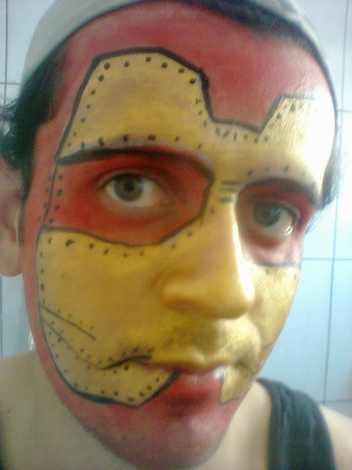 Pintura Facial Artística - Homem de Ferro