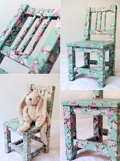 decoupage krzesło do pokoju dziecięcego