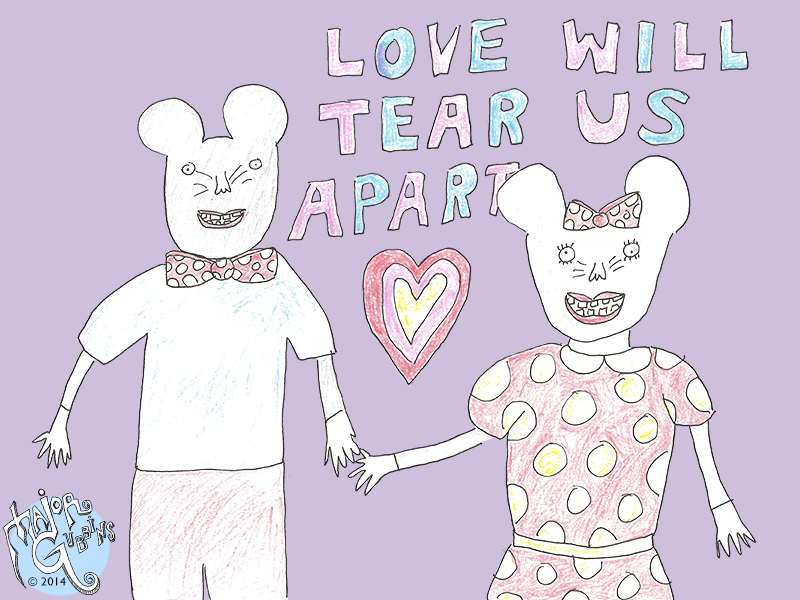 'Love Will Tear Us Apart' by Trevor the Lady Towel