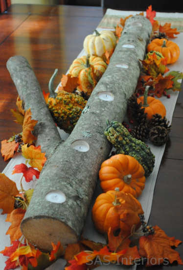 inexpensive easy fall table centerpiece