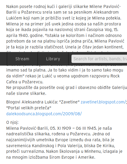 АЛЕКСАНДАР ЛУКИЋ - О МИЛЕНИ ПАВЛОВИЋ- БАРИЛИ