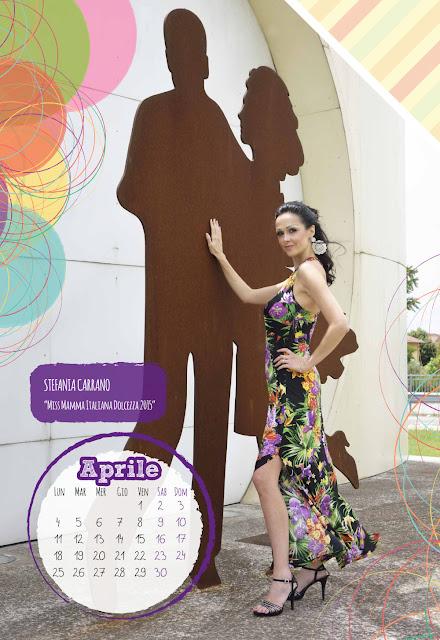 Calendario 2016 - Miss Mamma Italiana - Aprile