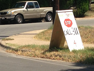 Neighborhood grassroots campaign in Austin to get city to install a stop sign