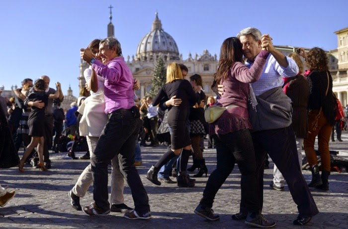 mass tango dance pope francis birthday