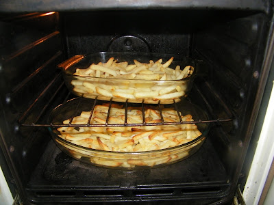 Oven cooked chips
