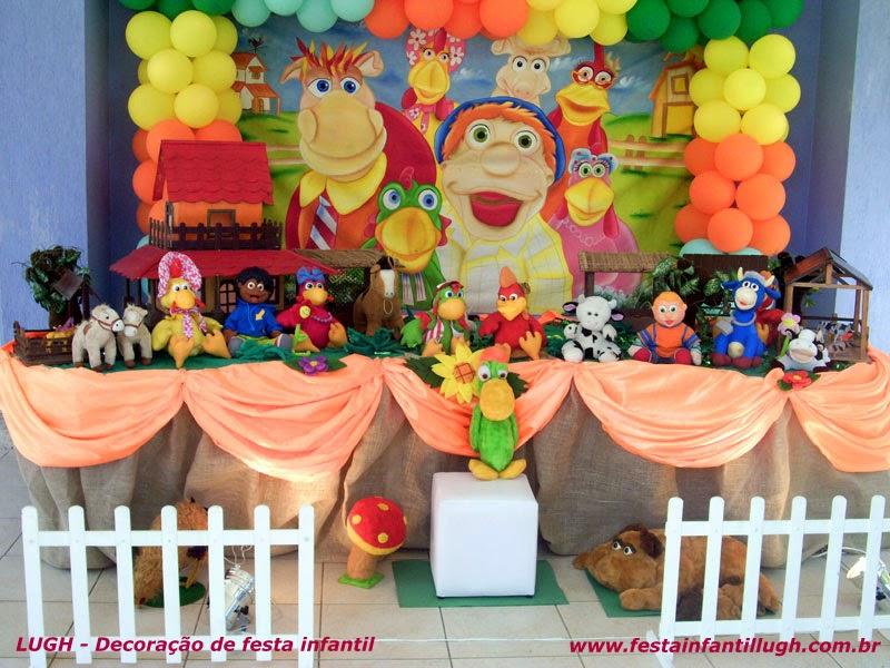 Tema Cocoricó para decoração de festa infantil