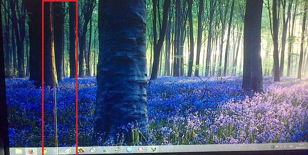 Layar Monitor PC/Laptop bergaris