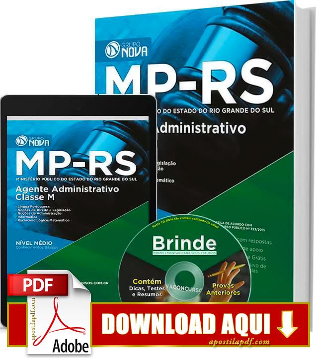 Apostila MP RS 2015 Agente Administrativo PDF Download Grátis
