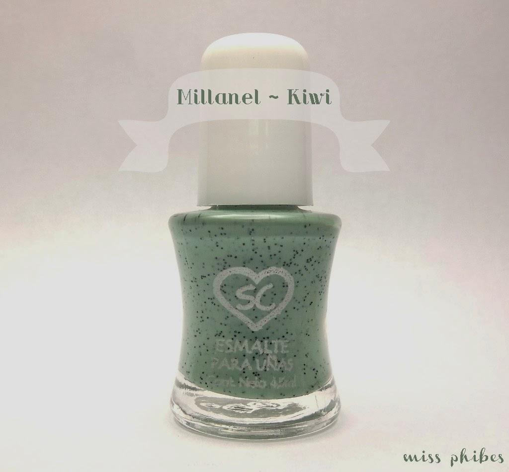 Miss Phibes + esmalte Millanel Granizado Kiwi