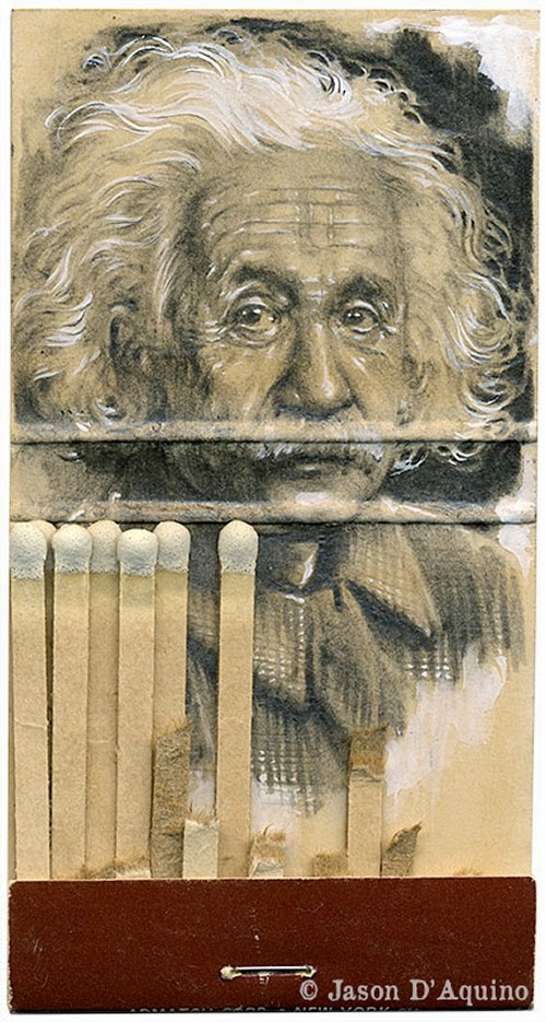 02-Einstein-Jason-D-Aquino-Vintage-Matchbook-Drawings-www-designstack-co