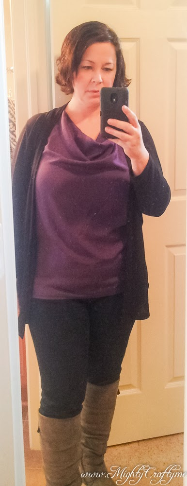 Feb. 2014 Stitch Fix review -- Amani Cowl Neck Sleeveless Blouse by 41Hawthorn -- www.MightyCrafty.me