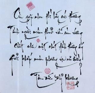 Thơ hay viết bằng thư pháp: CÒN GẶP NHAU - Tôn Nữ Hỷ Khương