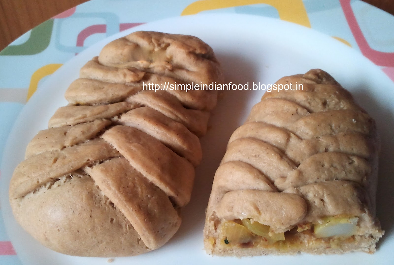 ... Indian Food- An Easy Cooking Blog: Whole wheat Stuffed Braided bread