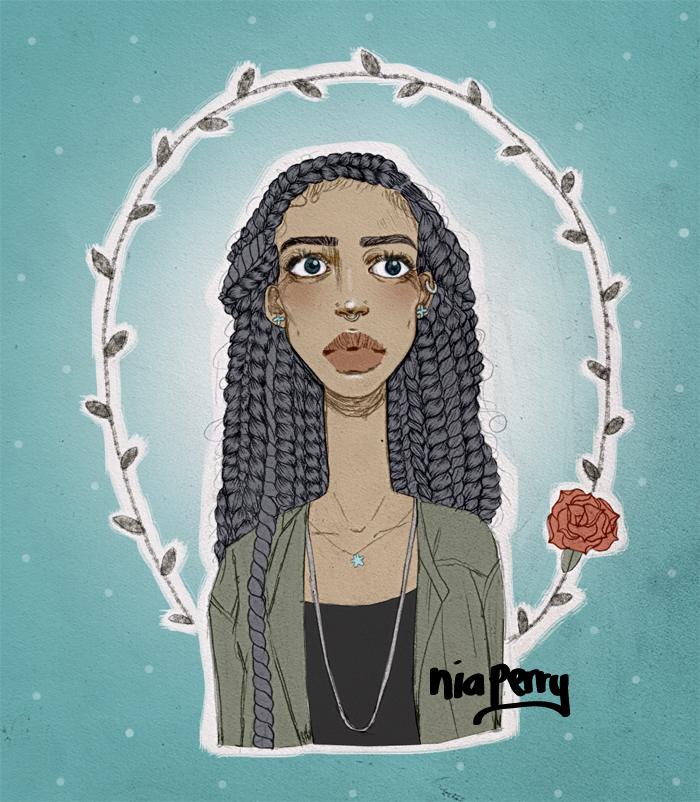 natural hair havana twists illustration