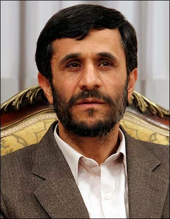 Former Iranian President Mahmoud Ahmadinejad not wearing a necktie