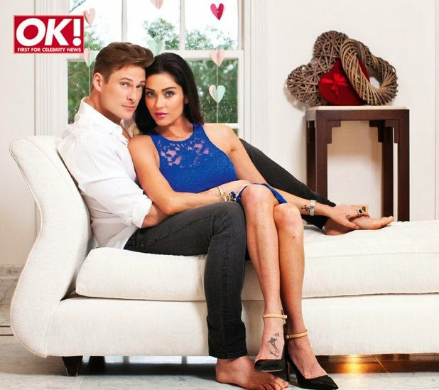 Lee Ryan and Jasmine Waltz displaying their amazing romantically moment in OK! magazine spread sheets for March 2014 edition.