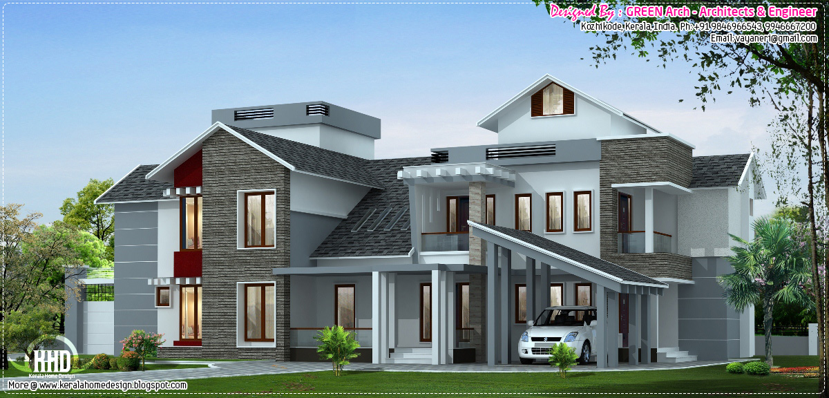 ... about this luxury house, contact ( House design in Kozhikode