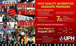Kampus UPH Surabaya dengan Motto Global dan Holistic Christian Campuss of Indonesia
